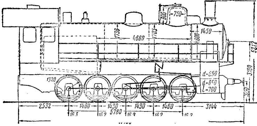 Схема паровозов серий Эг и Эш