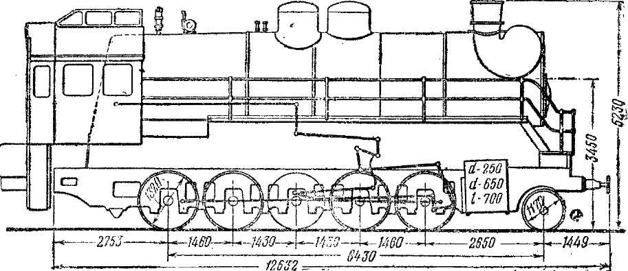 Схема паровоза серии СОк