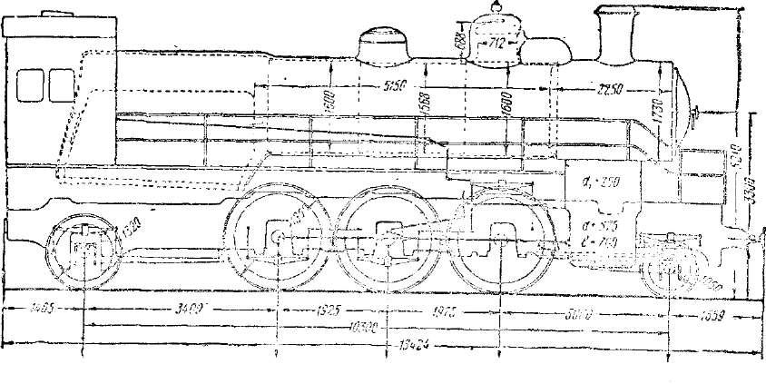 Схема паровоза серии Су